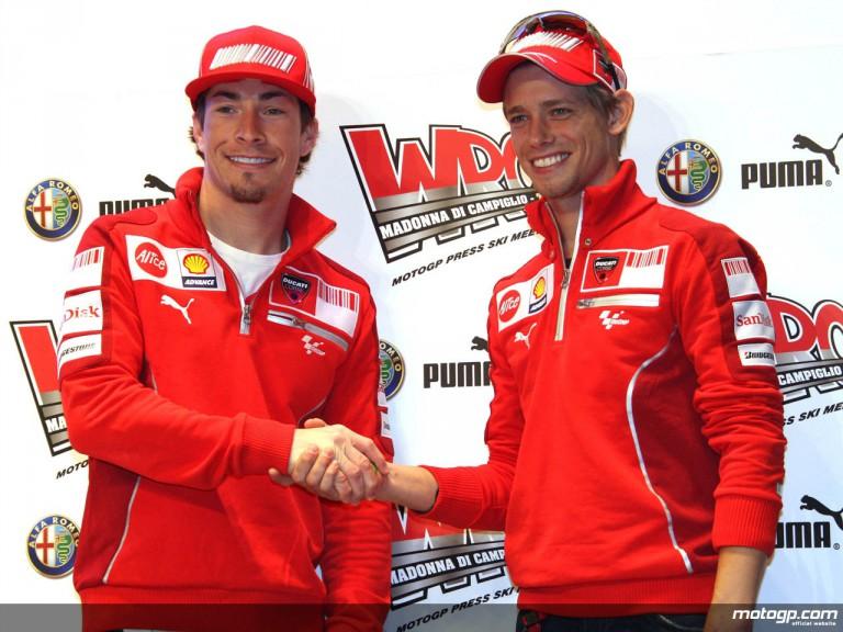 Ducati Marlboro Official Wrooom 2009 presentation at Madonna di Campiglio
