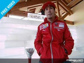 Nicky Hayden at the 2009 Wrooom Ducati Marlboro presentation