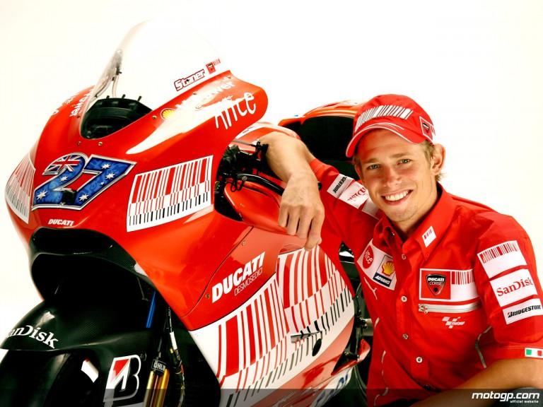 Ducati rider Casey Stoner at Wrooom 2009