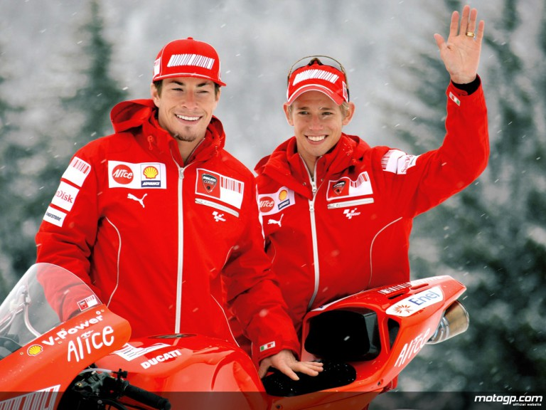 Ducati Marlboro unveils the new Desmosedici GP9 at Madonna di Campiglio