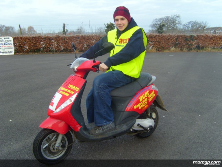 Scott Redding passing his CBT