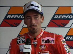 1998 Czech Republic GP Biaggi interview after the race