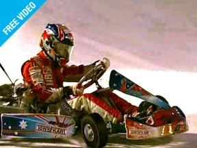 2007 MotoGP World Champion Casey Stoner beats Ferrari´s Felipe Massa in ice kart race