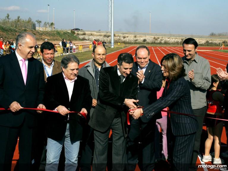 Jorge Martínez Aspar at Ciudad Deportiva inauguration