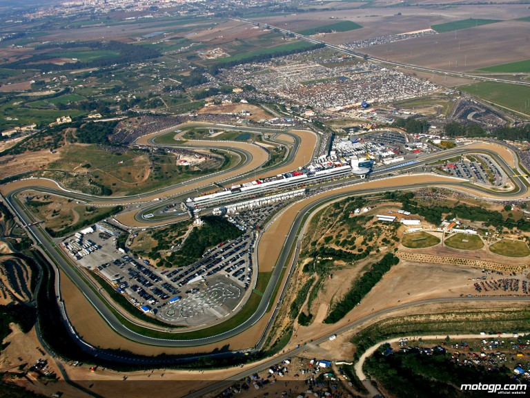 Aerial view of the Jerez Circuit