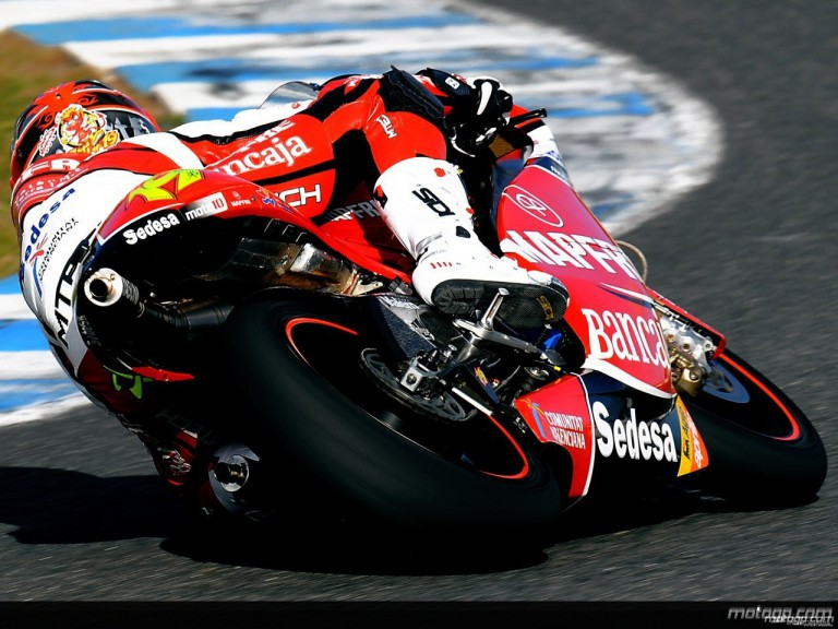 Alvaro Bautista in action at Jerez Test (250cc)