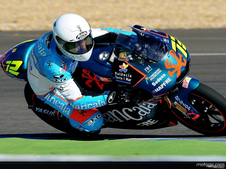 Julian Simon in action at Jerez Test (125cc)