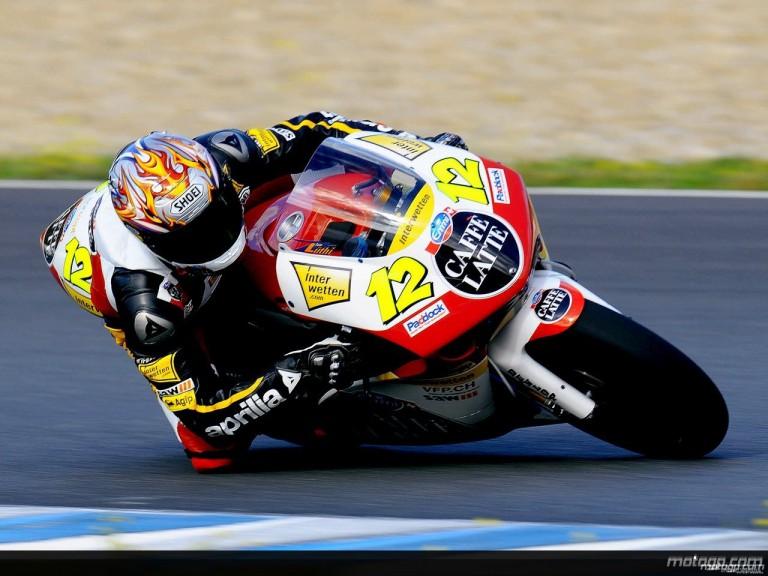 Thomas Luthi on track at Jerez Test (250cc)
