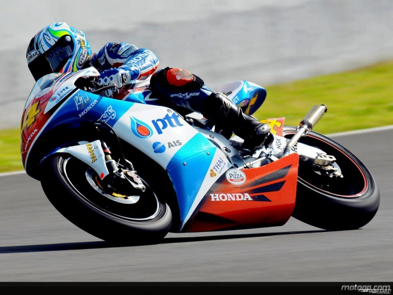 Wilairot in action in Jerez (250cc)