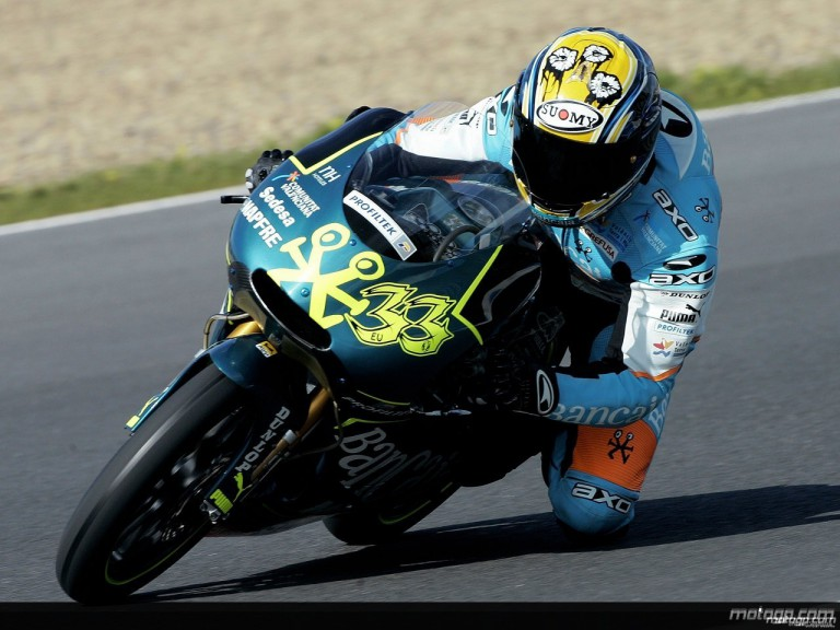 Sergio Gadea on track in Jerez (125cc)