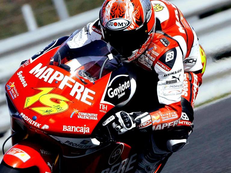 Alvaro Bautista in action at Jerez Test (250cc)