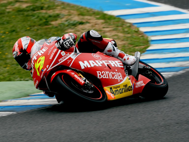 Álvaro Bautista on track at the Official Test in Jerez