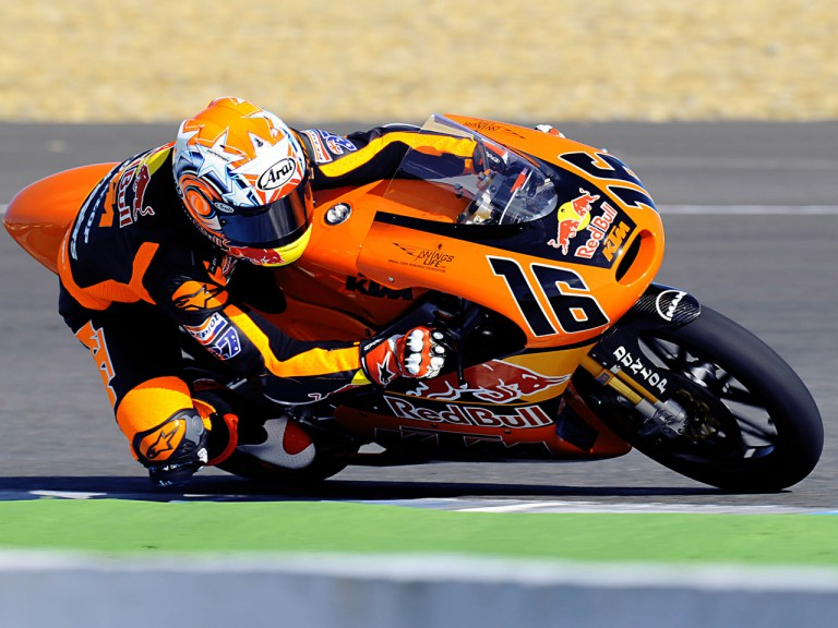 Cameron Beaubier on track at Jerez Test (125cc)
