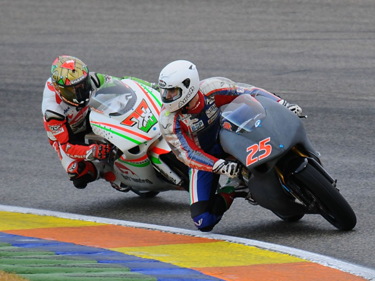 Baldolini and Talmacsi at the 250cc Valencia test