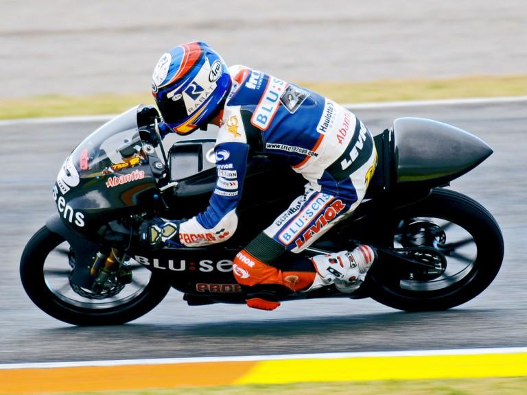 Esteve Rabat on track at  125cc Valencia Test