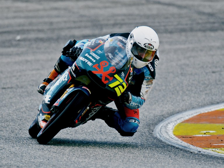 Julian Simon in on track at 125cc Valencia test