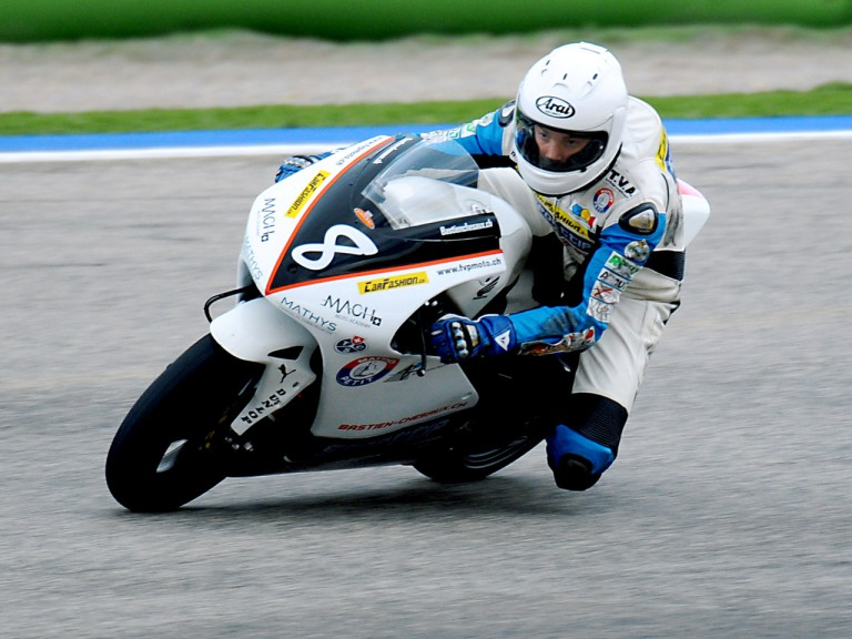 Bastien Chesaux in action at 250cc Valencia test