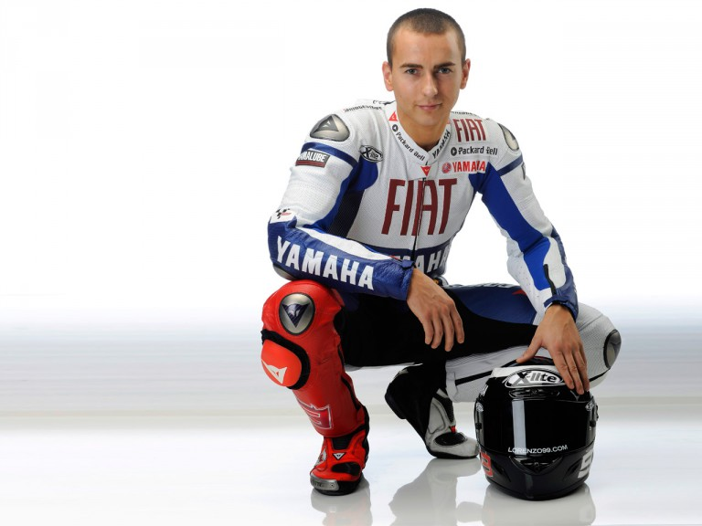 Fiat Yamaha #99 rider Jorge Lorenzo