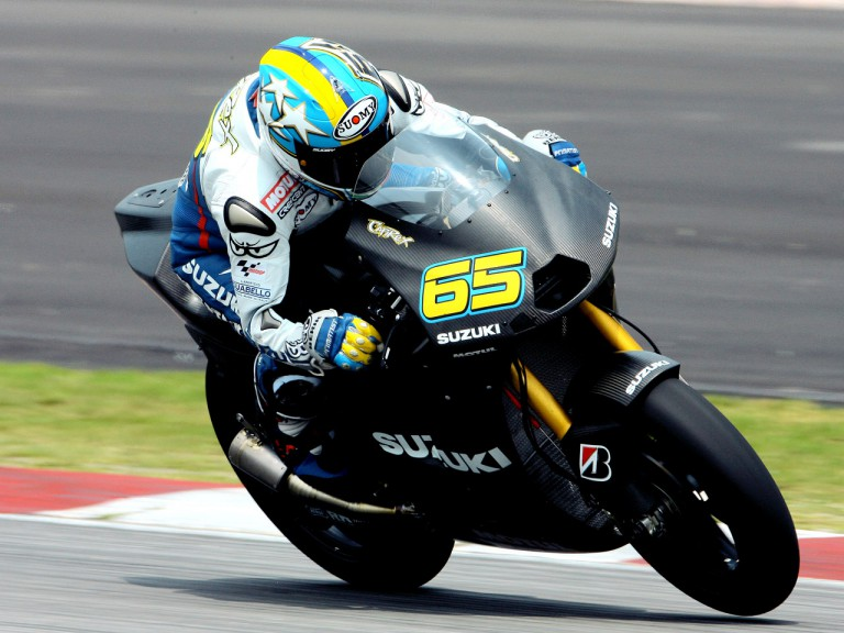 Loris Capirossi in action at Sepang test