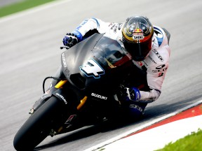 Chris Vermeulen on track at Sepang test