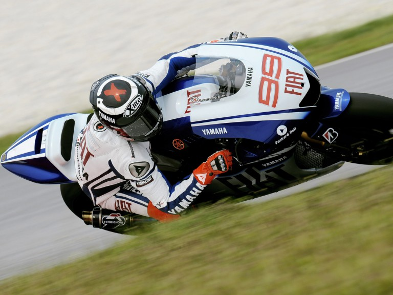Jorge Lorenzo on track at Sepang test