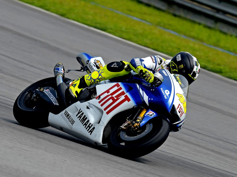 Valentino Rossi on track at Sepang test