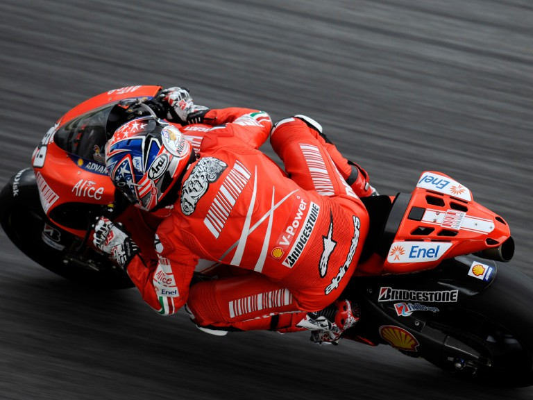 Nicky Hayden kicks off 2009 testing with Ducati Marlboro at the Sepang circuit