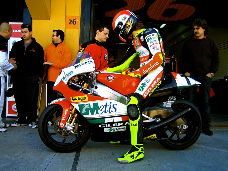 Marco Simoncelli in Pit Lane at Valencia Test