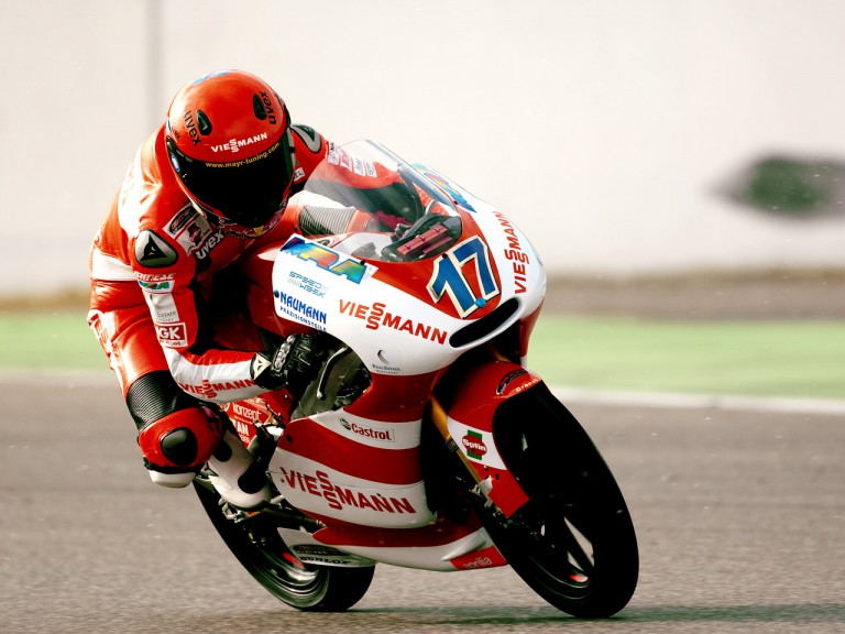 Stefan Bradl in action at the Hockenheim circuit