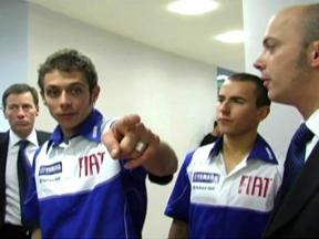 Behind the scenes at Fiat Yamaha's 2009 team launch