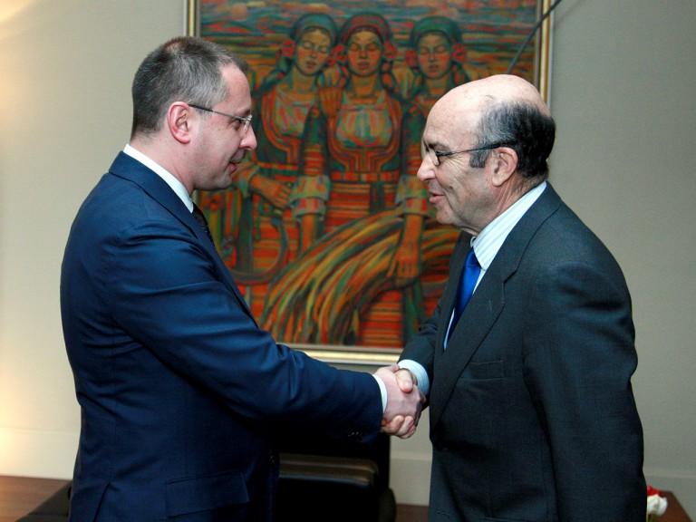 Dorna CEO Carmelo Ezpeleta meets with Bulgaria's Prime Minister Sergei Stanishev