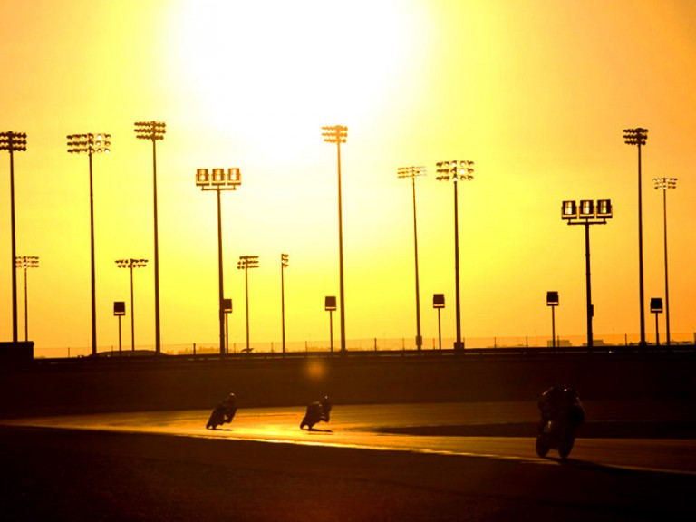 Twilight at the Losail International Circuit in Qatar