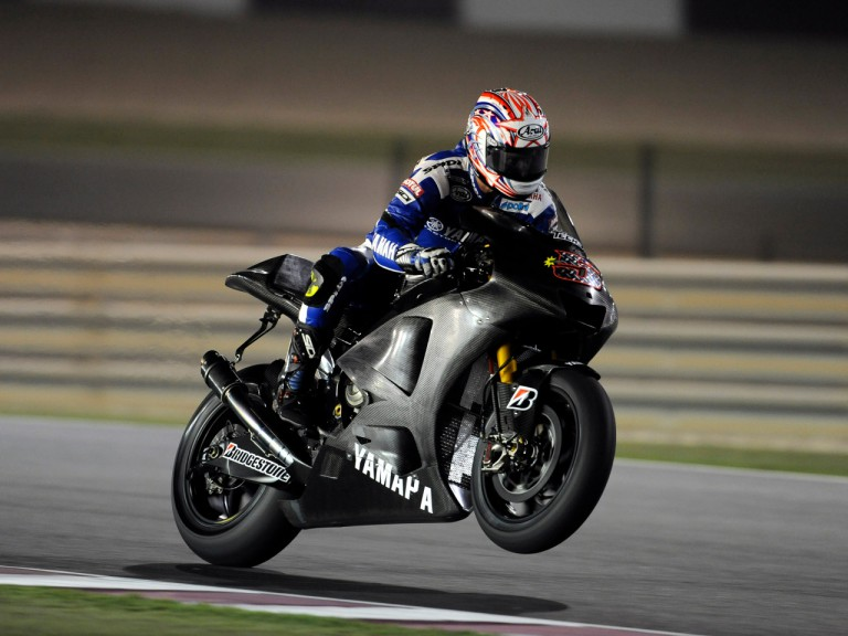 Colin Edwards at the Losail Qatar Night Test with the Tech3 Yamaha team