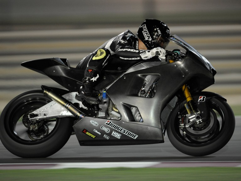 Marco Melandri on track with the Hayate Racing Team Ninja ZX-RR
