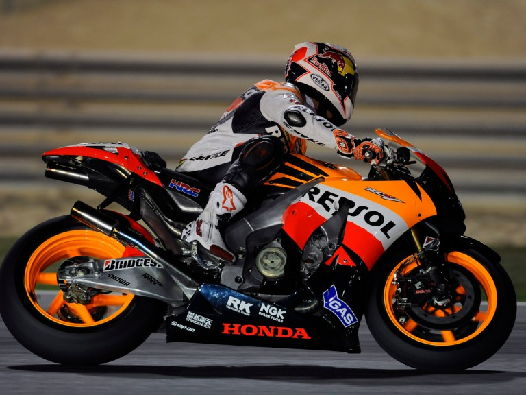 Andrea Dovizioso on track at the Losail circuit