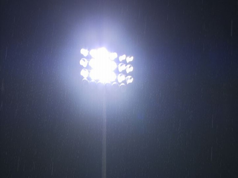 Rain hits the Losail circuit on the first night of testing in Qatar