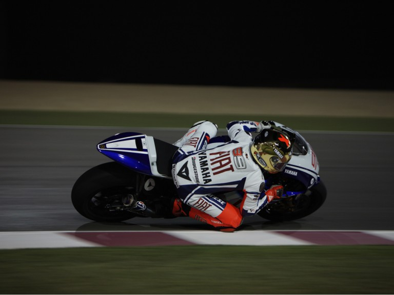 Jorge Lorenzo at the Losail Qatar Night Test
