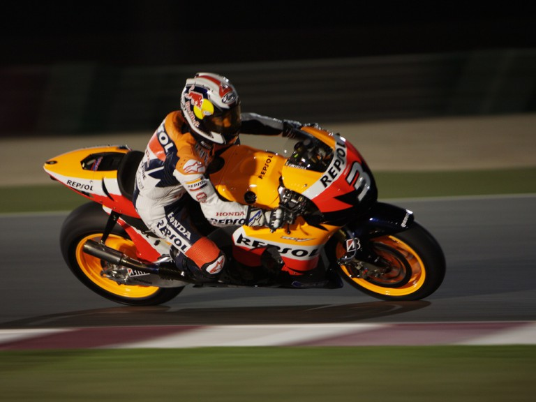 Dani Pedrosa at the Losail Qatar Night test