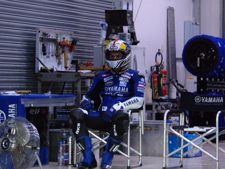 James Toseland in the Tech3 Yamaha box