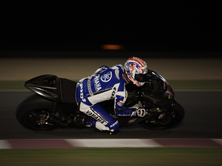 Monster Yamaha Tech3 rider Colin Edwards at the Qatar Night Test