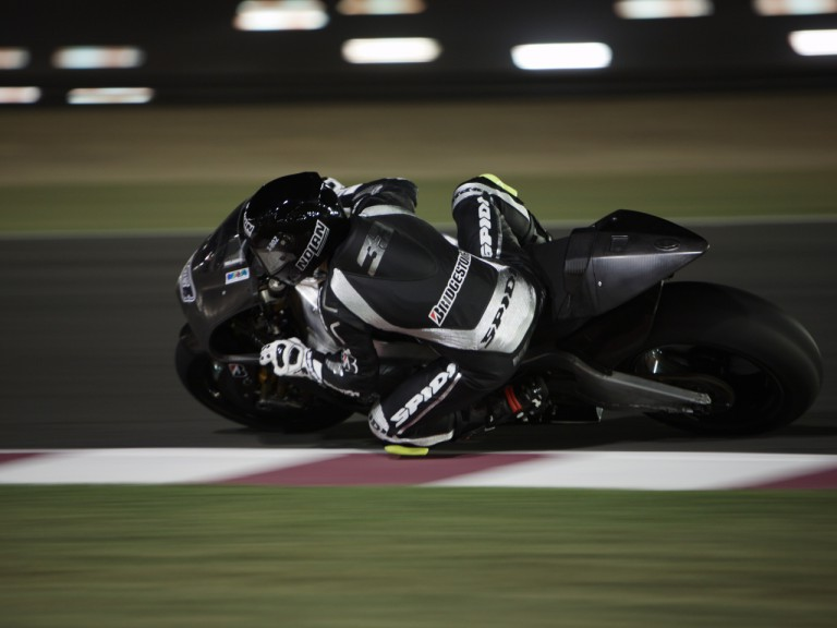 Marco Melandri testing the Ninja ZX-RR with the Hayate Racing Team at Losail