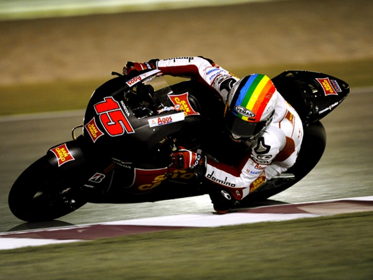 Alex de Angelis in action at the Qatar Night Test