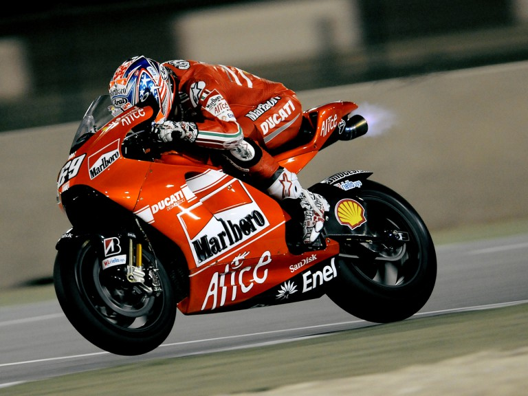 Nicky Hayden on track at the Losail Internation Circuit