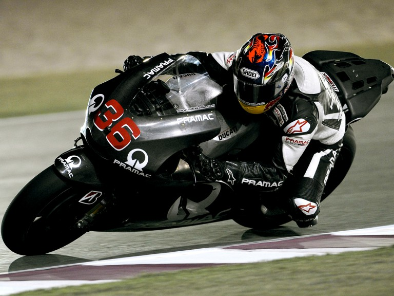 Mika Kallio on track at the Qatar Night Test