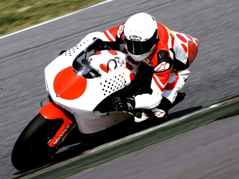 Hector Barberá in action at Montmeló Test