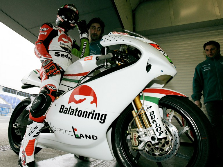 Gabor Talmacsi in the Balatonring Team garage