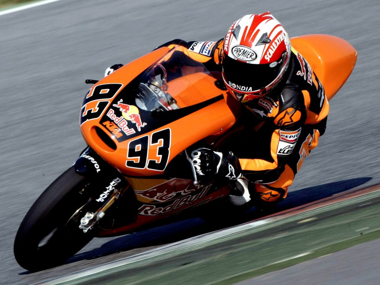 Marc Marquez in action at Montmeló Test