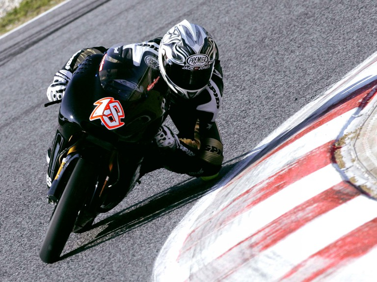 Nicolas Terol in action at Montmeló Test