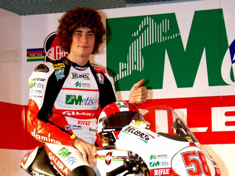 Marco Simoncelli at the Gliera 100th anniversary celebration