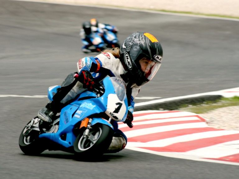 Minibike action at the new Castellolí Parcmotor venue in Catalunya